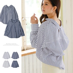 S/S Stripe Shirt Blouse