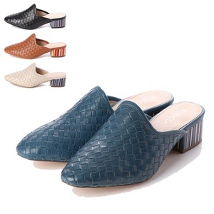 S/S 4 Colors Genuine Leather Mesh Casual Mule