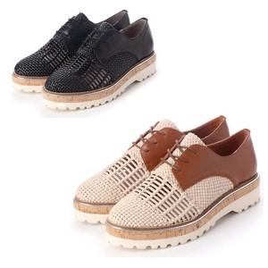S/S 3 Colors Genuine Leather Material Combi Lace Shoes