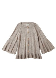 Hand Knitting Frill Knitted Cardigan