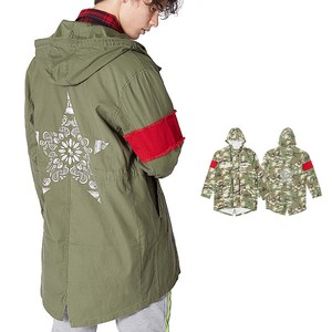 S/S Men's Decoration Fish Military Mod Coat