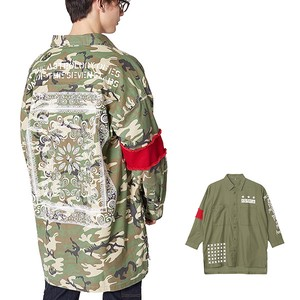 S/S Men's Decoration Military Big Shirt