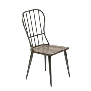 【Creative Co-Op Home】ダイニングチェアー,Louisa Wood & Metal Dining Chair KD
