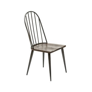【Creative Co-Op Home】ダイニングチェアー,Louie Wood & Metal Dining Chair KD