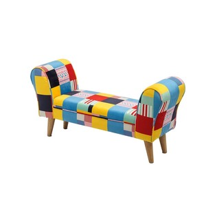 【SALE特価】【Creative Co-Op Home】ミニベンチ,Upholstered Mini Bench【SALE】