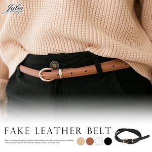 Belt Leather Gold Buckle Belt