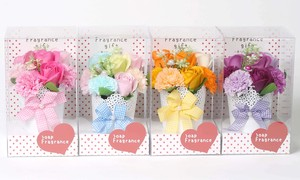 Gift Soap Flower ANGE Clear 4 Colors