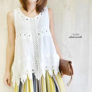 S/S Cotton Embroidery Snow Tunic