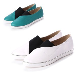 S/S 4 Colors Genuine Leather Color Casual Slippon
