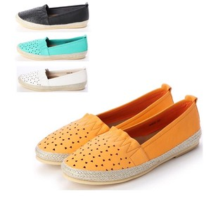 S/S 4 Colors Genuine Leather Upper Gather Mesh Flat Shoes