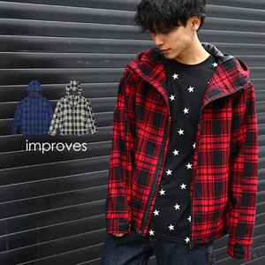 [2019NewItem] Checkered Mountain Hoody Men's Outerwear Jacket Suit Set