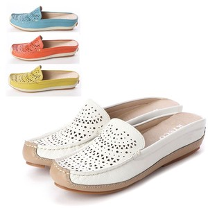 S/S 4 Colors Genuine Leather Mesh Bag Shoes
