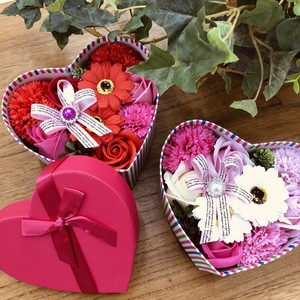 Brilliant Soap Flower HEART Heart 4 Colors