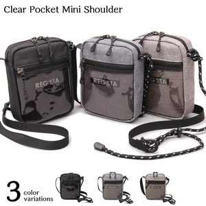 Vertical Clear Plastic Punched Pocket Mini Shoulder Bag Sacosh