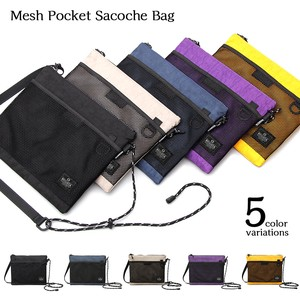 Mesh Pocket Sacosh Bag Nylon Mini Shoulder