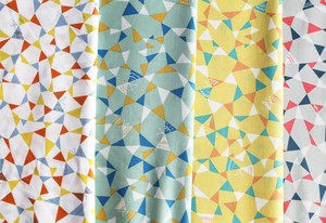 Fabric 4 Colors Triangle Butterfly New Pattern