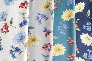 Fabric 4 Colors Floral Pattern New Pattern