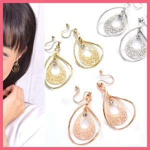 Watermark Plate Twist Frame Earring