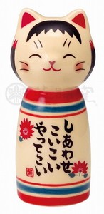 Happiness Ornament Interior Cat Kokeshi Chirashi