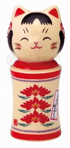Happiness Ornament Interior Cat Kokeshi