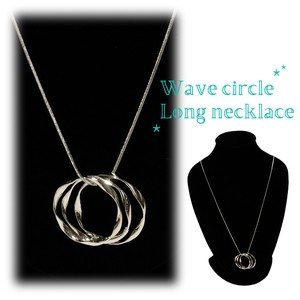 Wave Circle Long Necklace Necklace