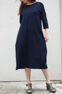 One-piece Dress Three-Quarter Length Casual Natural Women's Apparel
