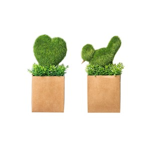 【Creative Co-Op Home】フェイクグリーン ハート&バード クラフト,Heart/Bird Faux Greenery 2 Styles