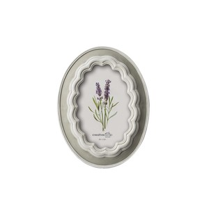 "【Creative Co-Op Home】フォトフレーム,4"" x 6"" Resin Oval Photo Frame"