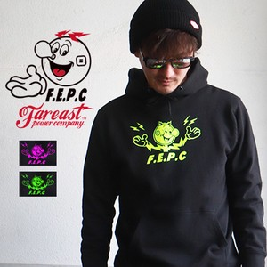 Character Fluorescence Print Fleece Sweat Hoody