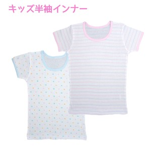 [2019NewItem] Kids Short Sleeve Inner 2 Pcs Border Repeating Pattern