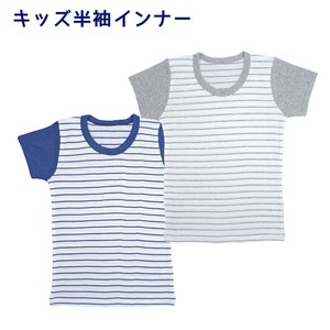 [2019NewItem] Boys Kids Short Sleeve Inner 2 Pcs Border 30cm