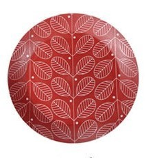 18cm Plate Bisque Red HASAMI Ware Plate