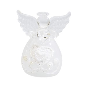 Glass Heart Angel Objects and Ornaments Ornament
