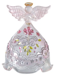 Glass Bouquet Angel Objects and Ornaments Ornament