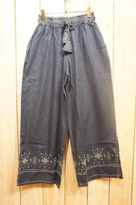 Carry S/S Denim Closs Embroidery Pants