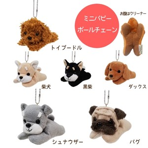 Premium Mini Puppy with Ball chain strap / Stuffed Toy