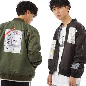 S/S Men's Patch Decoration Nylon Jacket Military Blouson