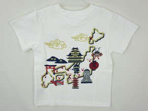 [2019NewItem] Items Jersey Stretch Japanese Pattern T-shirt Map