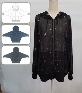 Star Pattern Foaming Chiffon Dolman