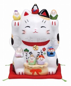 Happiness Ornament Interior Beckoning cat Seven Deities Of Good Luck