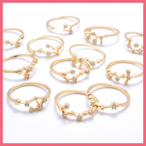 Cubic Constellation Ring Gold