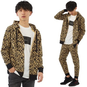 S/S Men's Leopard Leopard Fleece Sweat Hoody