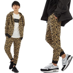 S/S Men's Leopard Leopard Fleece Sweat Pants