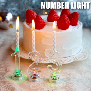 Number Candle Cake Lovely Decoration Number Light