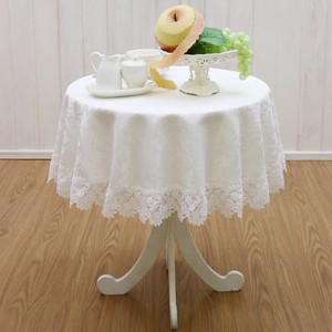 [2019NewItem] Round Tablecloth Water Repellent Lace Squirrel Series