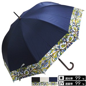 Unisex Plain Leaf Switching One push Umbrellas UV Cut