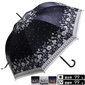 Unisex Floral Pattern Swallow One push Umbrellas UV Cut