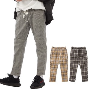 S/S Men's Checkered Ankle Slim Tapered Pants