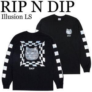 《即納》RIP N DIP《定番》■L/S TEE■Illusion LS■ねこ