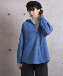Waist Ribbon Denim Shirt